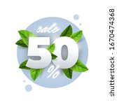 spring sale vector badge banner ...   Shutterstock .eps vector #1670474368