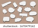 Vector Set Of Speech Bubbles....