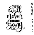 you will never regret being... | Shutterstock .eps vector #1670483932