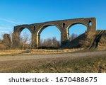 old railway viaduct ruined big... | Shutterstock . vector #1670488675
