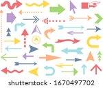 pastel colored arrow icon set