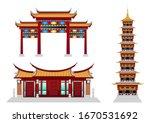 Stock Vector Set Of Buddhist...