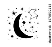 vector collection of night sky...   Shutterstock .eps vector #1670532118