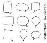 white blank speech bubbles set... | Shutterstock .eps vector #1670536978