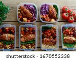 Small photo of Grocery and Meal-Kit Delivery Services Seeing. Ordering delivery is the safest way to get food during the coronavirus outbreak. Service For Healthy Prepared Meals Delivered To Door
