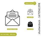 email icons set vector...
