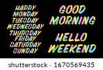 set of weekdays brush sign... | Shutterstock .eps vector #1670569435