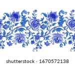 seamless border with decorative ...   Shutterstock .eps vector #1670572138