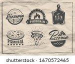 pizzeria badges. set of pizza... | Shutterstock .eps vector #1670572465