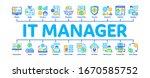 it manager developer minimal... | Shutterstock .eps vector #1670585752