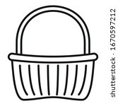 wicker basket icon. outline... | Shutterstock .eps vector #1670597212