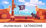 Pirate Ship Wooden Deck Onboard ...