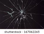 broken glass dark background | Shutterstock . vector #167062265