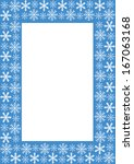 frame with snowflakes | Shutterstock .eps vector #167063168