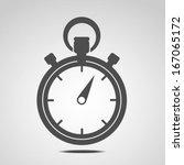 stopwatch icon  | Shutterstock .eps vector #167065172