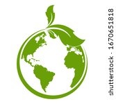 green earth  green leaf art....   Shutterstock .eps vector #1670651818