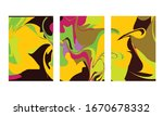 abstract color mix wall...   Shutterstock .eps vector #1670678332
