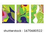 abstract color mix wall...   Shutterstock .eps vector #1670680522