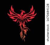 Phoenix Mascot Logo with Black Background