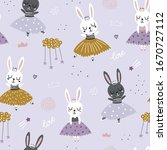 childish seamless pattern with... | Shutterstock .eps vector #1670727112
