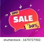 super sale poster in trendy... | Shutterstock .eps vector #1670727502