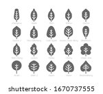 spring leaf solid glyph icon... | Shutterstock .eps vector #1670737555