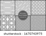 set of 6 geometric impossible... | Shutterstock .eps vector #1670743975
