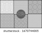 set of 6 geometric impossible... | Shutterstock .eps vector #1670744005