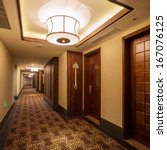 Stock photo interior of hotel 167076125