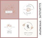 wedding logo  botanical rustic...   Shutterstock .eps vector #1670769775