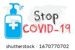 stop coronavirus covid 19...   Shutterstock .eps vector #1670770702