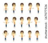 urban character set in... | Shutterstock .eps vector #167077526