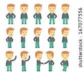urban character set in... | Shutterstock .eps vector #167077556