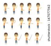 urban character set in... | Shutterstock .eps vector #167077562