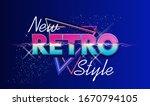 synthwave retrowave  retro 80s  ...   Shutterstock .eps vector #1670794105