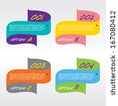set of colorful banners | Shutterstock .eps vector #167080412
