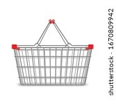 metal wire small shopping... | Shutterstock .eps vector #1670809942