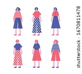 fashion characters lady girl... | Shutterstock .eps vector #1670811478