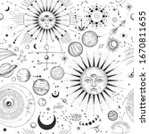 vector illustration set of moon ... | Shutterstock .eps vector #1670811655