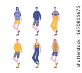 fashion characters boy man kid... | Shutterstock .eps vector #1670815675