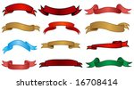 set of colored ribbons | Shutterstock .eps vector #16708414