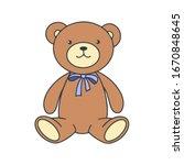 Plush Bear Toy Isolated On...