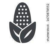 corn black icon on white... | Shutterstock .eps vector #1670878552