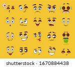 cartoon emotion set  cute funny ... | Shutterstock .eps vector #1670884438