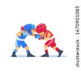 Boxing Among Boxer Kids. Boys...