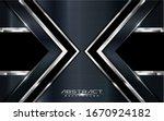 modern arrow dark navy...   Shutterstock .eps vector #1670924182