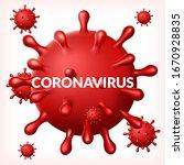 abstract virus strain model of... | Shutterstock .eps vector #1670928835