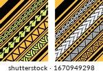 polynesian pattern motif... | Shutterstock .eps vector #1670949298