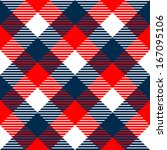 checkered gingham fabric... | Shutterstock .eps vector #167095106