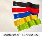 Set Of Bright Multi Colored...